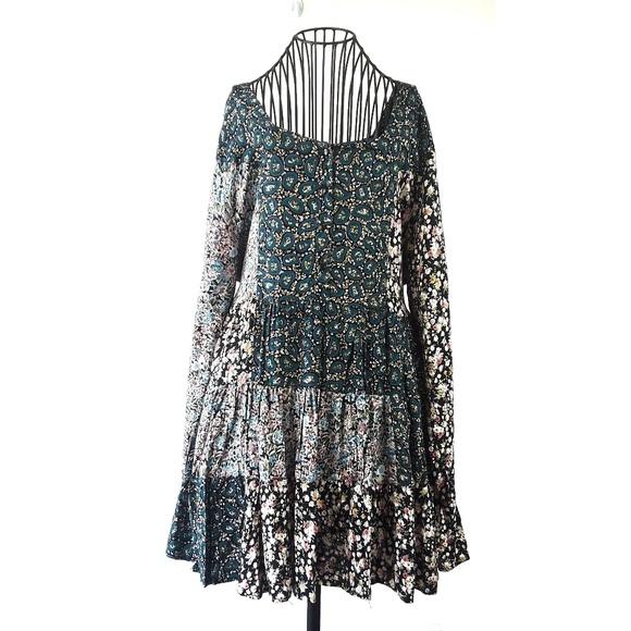 Vintage Dresses & Skirts - VTG 90s New Addition Paisley Long Sleeve Dress